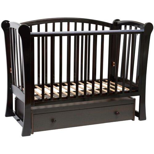 Кроватка Baby-Luce Лидер-1 (классическая), поперечный маятник шоколад