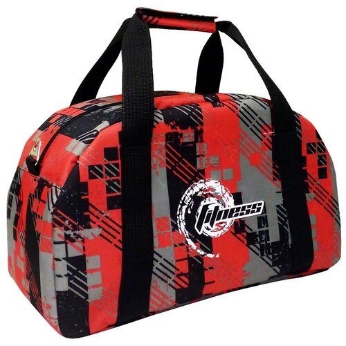 Спортивная сумка 5997 оранжевая клетка