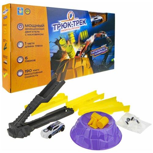 Фото - Трек 1 TOY Трюк-трек Катапульта-камикадзе Т19360 трек 1 toy ночной экспресс т13193