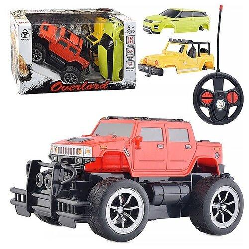 Купить Внедорожник Oubaoloon 6145A 1:24 18.5 см красный/желтый, Радиоуправляемые игрушки