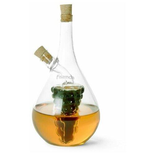 Бутылочка Fissman для масла и уксуса 2-в-1 40/450 мл fissman бутылочка для масла или уксуса 150 мл прозрачный серебристый белый