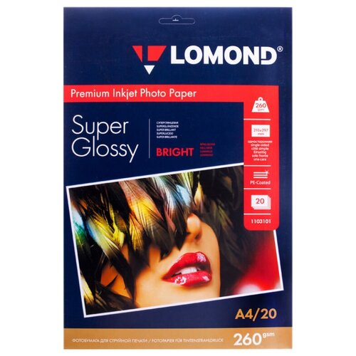 Фото - Бумага Lomond A4 Premium Photo Paper 1103101 260 г/м² 20 лист., ярко-белый бумага lomond a4 premium photo paper 1104101 280 г м² 20 лист белый