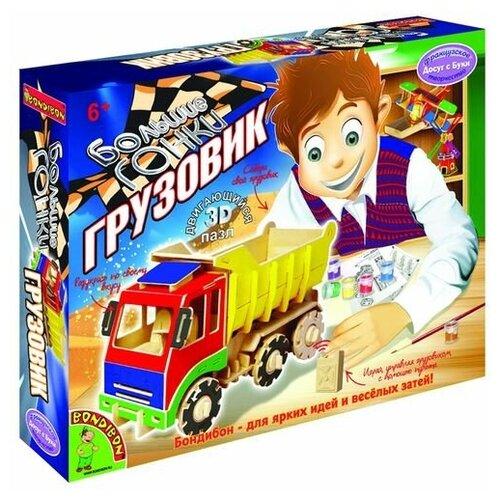 Большие гонки, грузовик, Bondibon (3D пазл, двигающийся, серия Французское творчество Досуг с Буки)