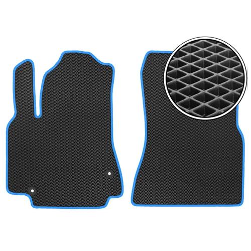 Комплект передних автомобильных ковриков ЕВА Ravon Nexia R3 2015 - н.в. (синий кант) ViceCar