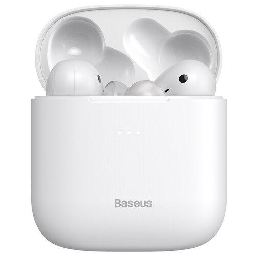 Беспроводные наушники Baseus W06 Encok, белый наушники baseus encok true wireless w06 pink ngw06 04