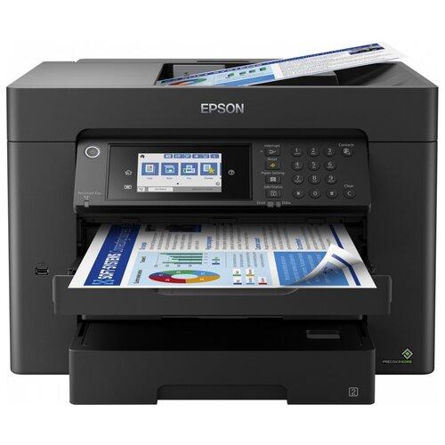 Фото - МФУ Epson Workforce WF-7840DTWF, черный компактный фотопринтер epson workforce wf 100w