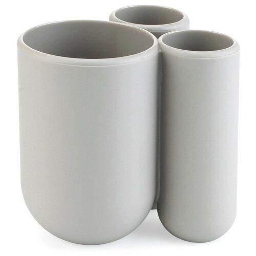 Фото - Стакан для зубных щеток Umbra Touch, серый стакан для зубных щеток touch 10х10х8 см серый 023271 918 umbra