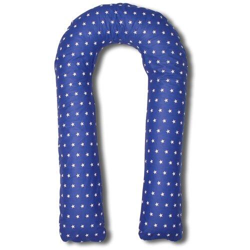 Фото - Подушка Body Pillow для беременных U холлофайбер, с наволочкой из хлопка синий в белых звездах подушка body pillow для беременных u холлофайбер с наволочкой из хлопка коричневый с бежевыми вензелями