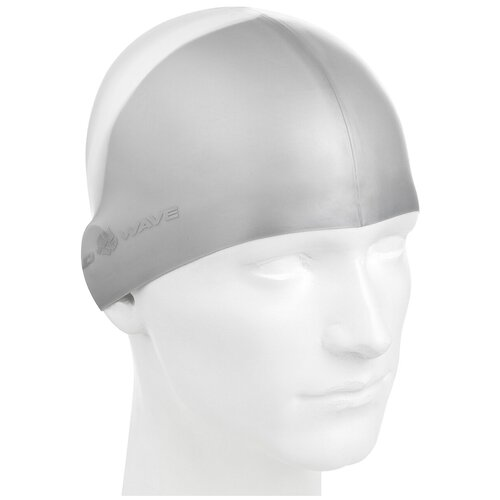 Шапочка для плавания MAD WAVE Multi BIG, серый очки для плавания mad wave spurt rainbow azure white
