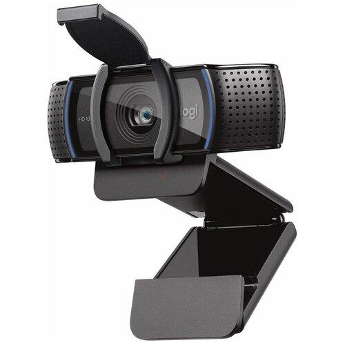 Веб-камера Logitech HD Pro Webcam C920S, черный