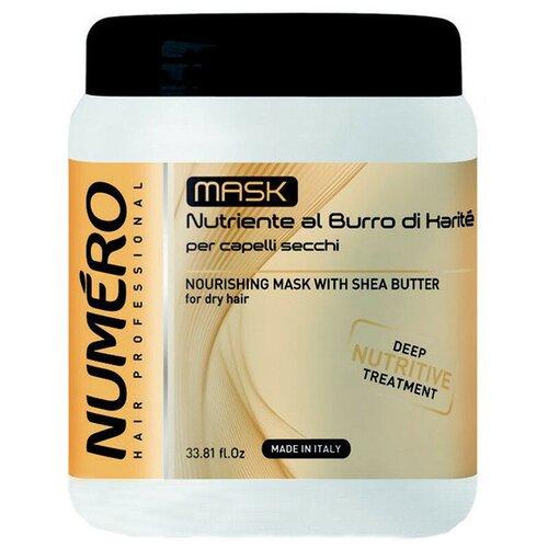 Brelil Professional Numero Маска для волос питательная с маслом карите, 1000 мл