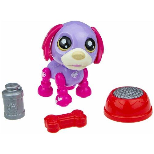 Фото - Робот 1 TOY Robo Pets Озорной щенок Т16938 фиолетовый/фуксия робот 1 toy robo pets котёнок белый голубой