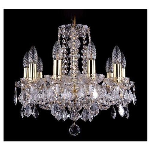 Люстра Bohemia Ivele Crystal 1402 1402/10/141/G/Leafs, 400 Вт bohemia ivele crystal 1402 1402 16 400 g 640 вт