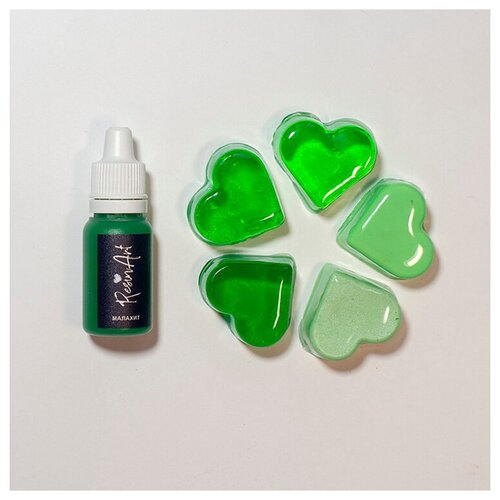 Купить Краситель для эпоксидной смолы ResinArt, малахит, 10 мл, Вспомогательные жидкости