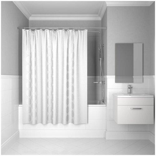 Фото - Штора для ванной IDDIS 432P20RI11 200x200 белый штора для ванны iddis cream balls 200x200 бежевая