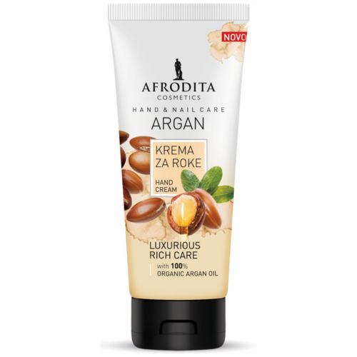 Крем для рук и кутикулы с аргановым маслом ARGAN, Afrodita Cosmetics, Словения, 100мл