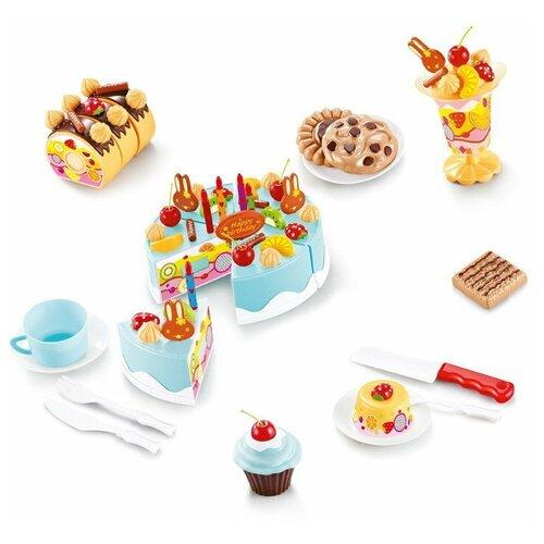 Фото - Набор продуктов с посудой ABtoys Помогаю маме PT-01224 голубой/белый/коричневый набор продуктов с посудой abtoys помогаю маме pt 00395 разноцветный