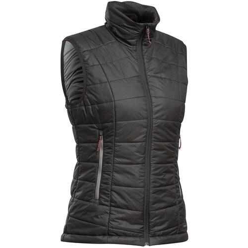 Пуховый жилет для треккинга в горах женский TREK 100, размер: L, цвет: Черный FORCLAZ Х Декатлон