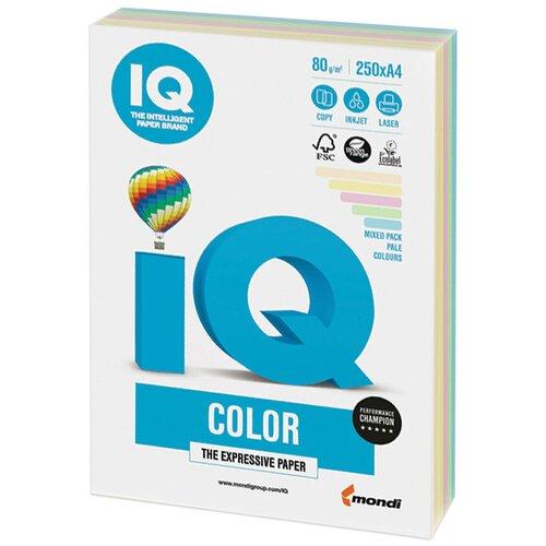 Фото - Бумага IQ Color A4 80 г/м² 250 лист. (5 цв. х 50 л.), пастель RB01 бумага iq color a4 80 г м² 250 лист 5 цв х 50 л тренд rb03