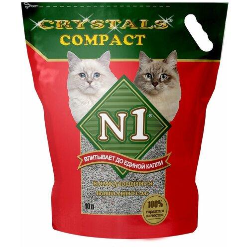 tea1733p n1 Комкующийся наполнитель N1 Crystals Compact, 10 л