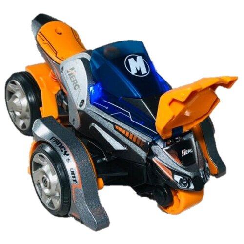 Купить Инерционный металлический квадроцикл с двумя вылетающими мотоциклами 1:32 со светом и звуком, инерционный 3 в 1, MY66-M1222, 16х11х9 см, Play Smart, Машинки и техника