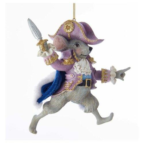 Елочная игрушка Kurt S. Adler Мышиный король (C7654M), фиолетовый/серый недорого
