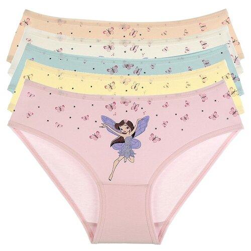 Купить Трусы для девочек 4171VP, Цвет: Микс, Размер: 8/9, 5шт. в упаковке, Donella, Белье и купальники