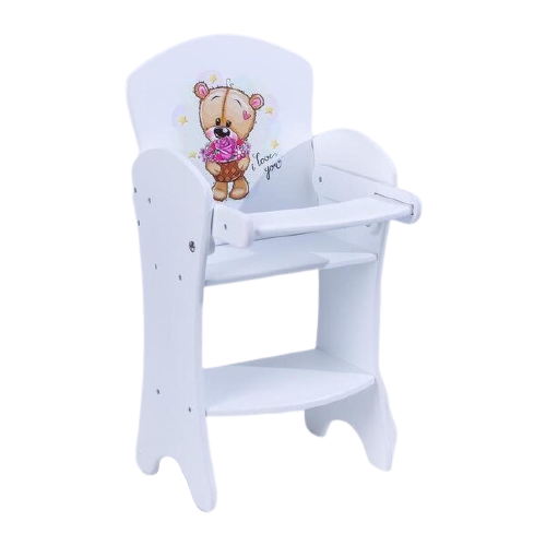 Фото - Коняша Стульчик для кукол Мишутки Романтик МС03Р белый кукольные домики и мебель коняша набор стол и стулья мишутки романтик