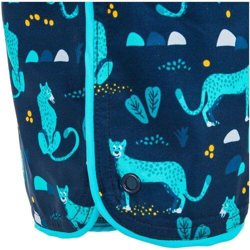 Плавки–шорты детские с принтом, размер: 96-102 CM 3-4, цвет: Синий Графит NABAIJI Х Декатлон