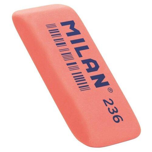 Купить Ластик пластиковый Milan 236 скошенной формы, флюоресцентный, цв.в ассорт. 5 штук, Ластики