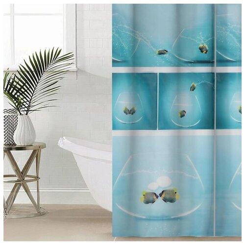 Фото - Штора для ванной Аквариум 180х180 см EVA 5430619 штора для ванной доляна графика 180х180 732658 синий