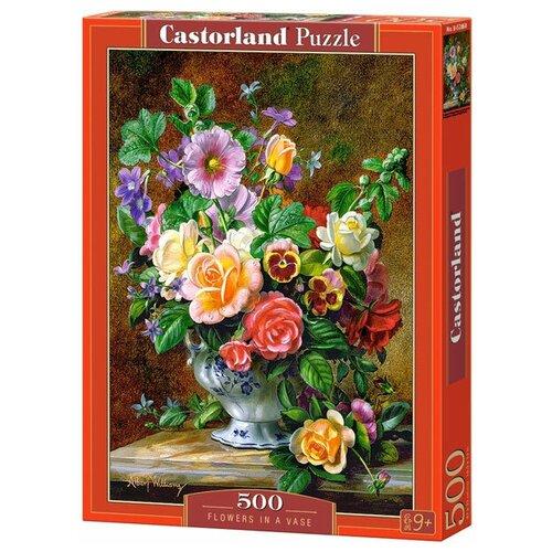 Пазл Castorland Flowers in a Vase (B-52868), 500 дет. пазл castorland pup in pink flowers b 52233 500 дет