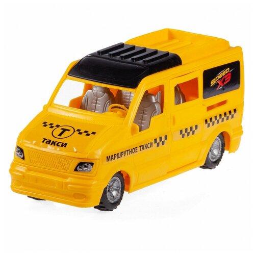 Машинка Юг-Пласт Микроавтобус Такси пластик Юг-Пласт