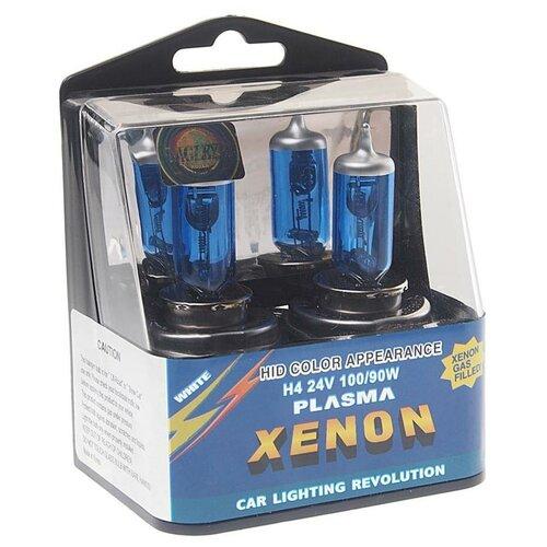 Лампа автомобильная ксеноновая EAGLEYE Xenon Ultra White EZ-2410043UW H4 100/90W 2 шт.