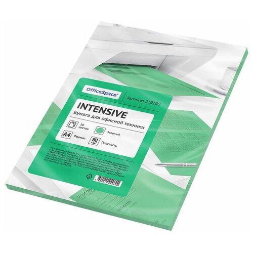 Фото - Бумага OfficeSpace A4 Intensive 80 г/м² 50 лист. (цветная), зеленый бумага officespace а4 neon 80 г м² 100 лист