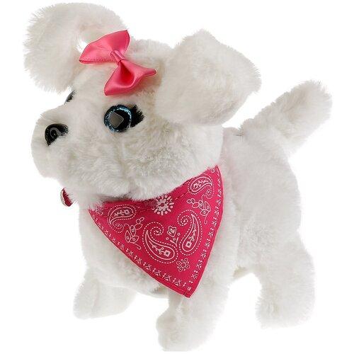 Фото - Интерактивная мягкая игрушка Мой питомец щенок Кенди, белый/розовый интерактивная мягкая игрушка mioshi active весёлый щенок mac0601 006 белый