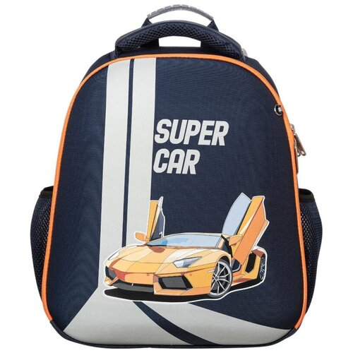 Купить Ранец №1School Basic Super car 2 отд., эргоном. спинка, №1 School, Рюкзаки, ранцы