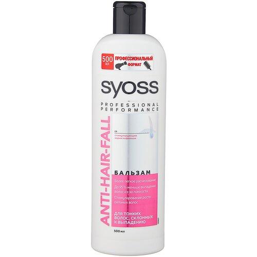 Фото - Syoss бальзам Anti-hair Fall Fiber Resist для тонких волос склонных к выпадению, 500 мл бальзам syoss anti hair fall fiber resist 95 для склонных к выпадению волос 500 мл