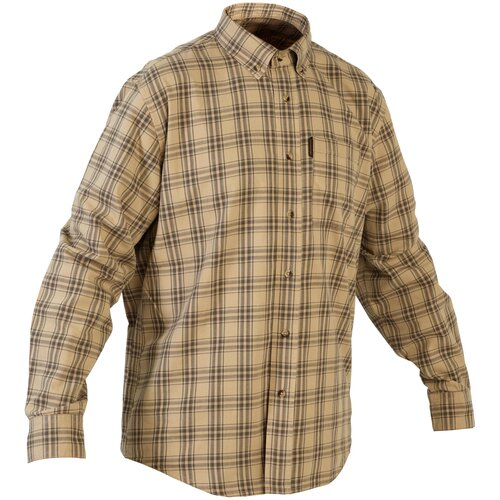 Рубашка муж. для охоты 100, размер: XL, цвет: Беж SOLOGNAC Х Декатлон
