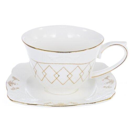 набор чайный balsford грация 2 предмета арт 101 12003 Чайная пара Balsford Грация 101-12003, 225 мл, 2 предм., белый