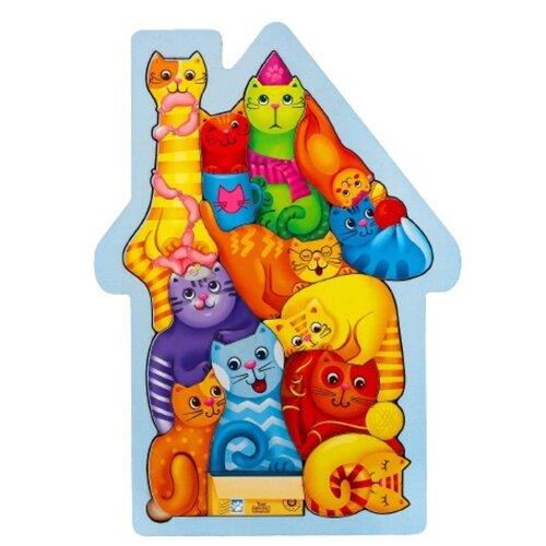 Купить Головоломка «Коты», размер 28 × 20см, головоломка логическая, Лесная мастерская, Головоломки