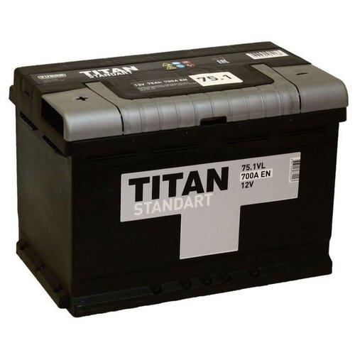 Автомобильный аккумулятор TITAN STANDART 6CT-75.1 VL