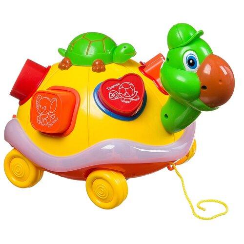 Купить Развивающая игрушка MingWei Черепаха-сортер №3300 Б93911, желтый, Развивающие игрушки