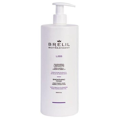 Brelil Professional BioTraitement Liss Маска для вьющихся и непослушных волос выпрямляющая, 1000 мл