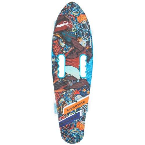 детский скейтборд navigator т20013 синий желтый Детский скейтборд N.Ergo Т17043С, 26.38x7.87, синий/коричневый