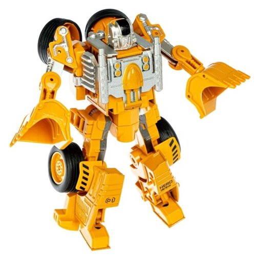 Купить Робот-трансформер BONDIBON Bondibot 2 в 1 Робот-трактор ВВ4922 желтый, Роботы и трансформеры