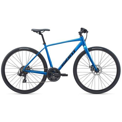 Фото - Городской велосипед Giant Escape 3 Disc (2021) синий 23 (требует финальной сборки) велосипед giant escape 3 disc 2021 металик черный m