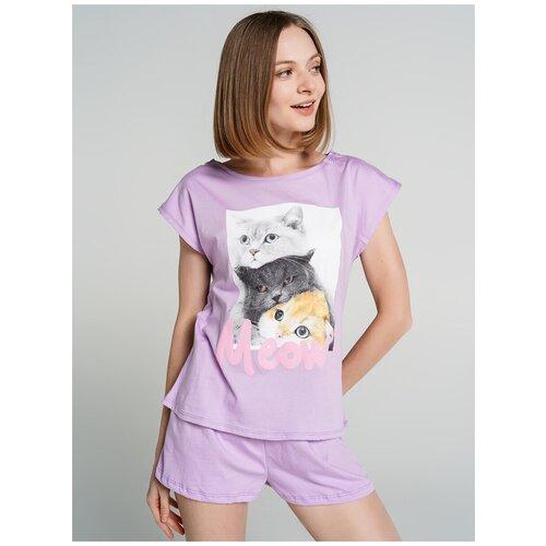 Пижама ТВОЕ, размер M, сиреневый