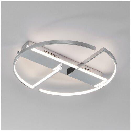 Потолочный светодиодный светильник с пультом управления Eurosvet 90233/2 хром потолочный светильник eurosvet 40065 2 хром