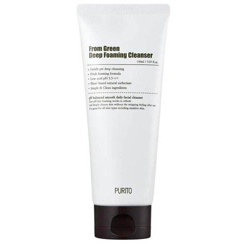 Фото - Purito пенка для умывания From Green Deep Foaming Cleanser, 150 мл clarins hydrating gentle foaming cleanser